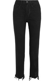 W3 Higher Ground cropped high-rise straight-leg jeans