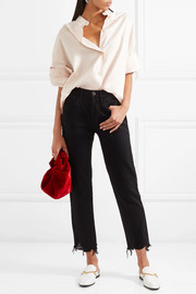 3x1 W3 Higher Ground cropped high-rise straight-leg jeans