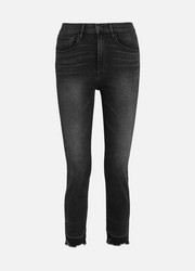 W4 Shelter Straight cropped distressed high-rise jeans