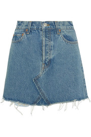 Originals distressed denim mini skirt