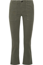 The Great The Army Nerd cropped stretch-twill skinny pants