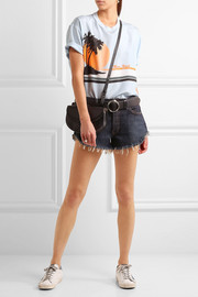 The Great The Cut Off frayed denim shorts