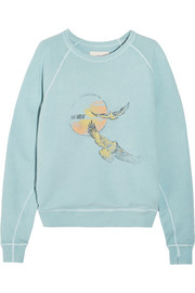 The College printed cotton-terry sweatshirt