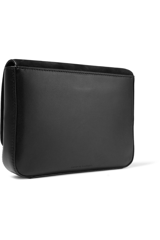 Loeffler Randall Lock leather and nubuck shoulder bag