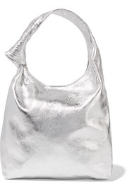 Knot mini metallic leather tote
