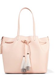Loeffler Randall Horse hair-trimmed leather tote