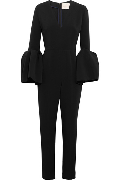 3900f4dc2488 Roksanda Margot Black Crepe Jumpsuit