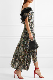 Dana ruffled floral-print silk-georgette midi dress