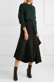 Proenza Schouler Split-front wool, silk and cashmere-blend sweater