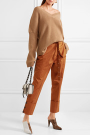 Proenza Schouler Belted cotton-twill pants