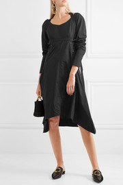 Proenza Schouler Asymmetric cotton-poplin midi dress