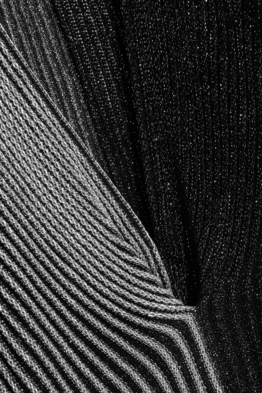 Proenza Schouler Two-tone ribbed Lurex midi dress