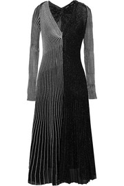 Proenza Schouler Two-tone ribbed Lurex midi dress