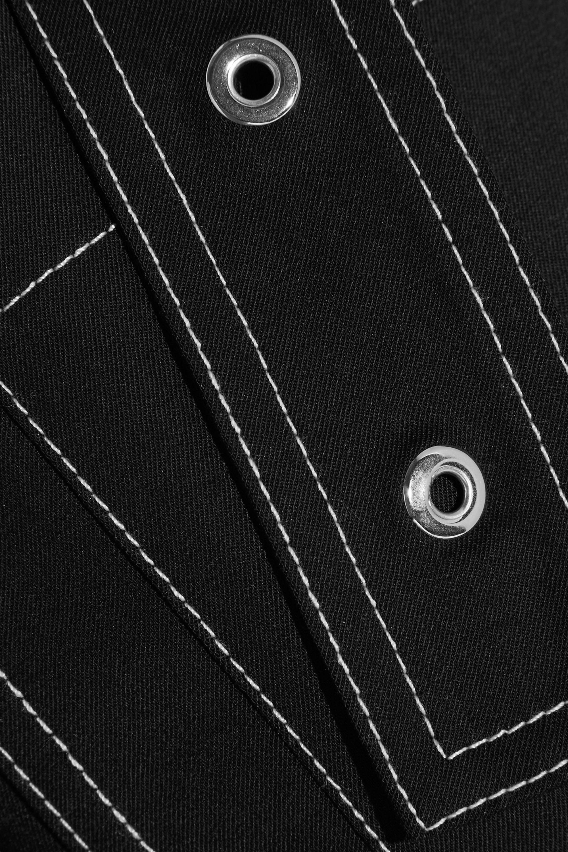 Proenza Schouler Belted wool-blend twill straight-leg pants