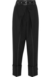 Proenza Schouler Belted wool-blend twill straight-leg pants