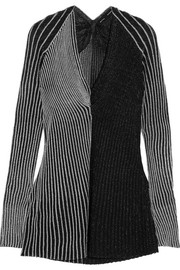 Proenza Schouler  Two-tone ribbed Lurex sweater