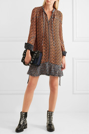 Proenza Schouler Printed silk-chiffon mini dress