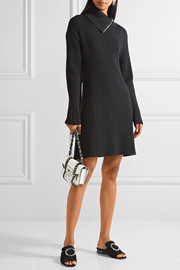 Proenza Schouler Cutout ribbed wool-blend dress