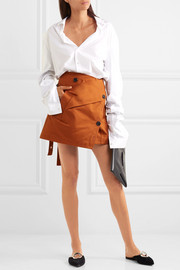 Proenza Schouler Cotton-twill wrap mini skirt