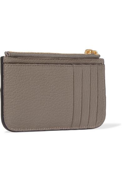 Drew Textured-leather Cardholder - one size Chlo 9VIH4