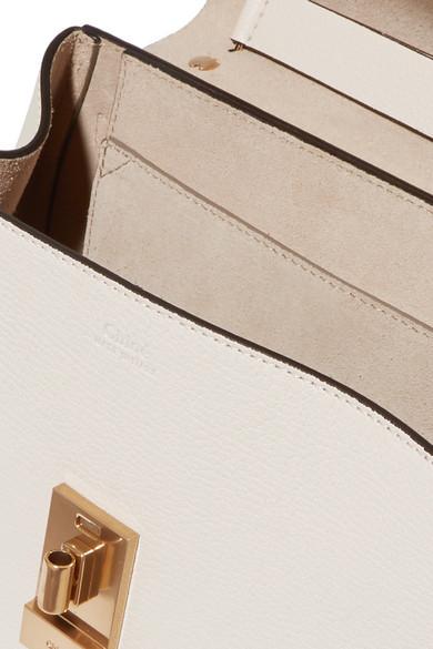 Chloé Drew kleine Schultertasche aus strukturiertem Leder