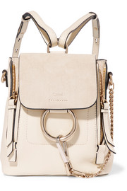 Faye mini suede and leather backpack