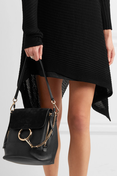 74f45f4501 Chloé   Faye small leather and suede backpack   NET-A-PORTER.COM