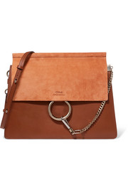 Chloé Faye medium leather and suede shoulder bag