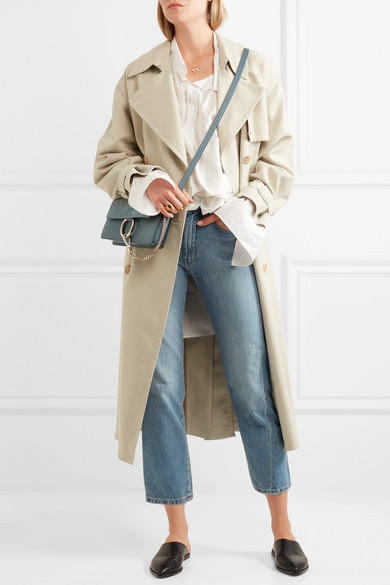 905af527d8489 Chloé | Faye small leather and suede shoulder bag | NET-A-PORTER.COM