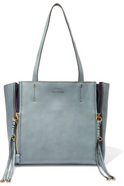 Milo suede-trimmed leather tote