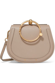 Chloé Nile Bracelet medium textured-leather and suede shoulder bag