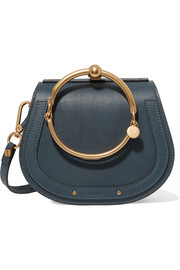 Nile Bracelet small leather and suede shoulder bag