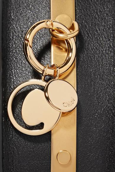 Chloé Nile Bracelet kleine Schultertasche aus strukturiertem Leder