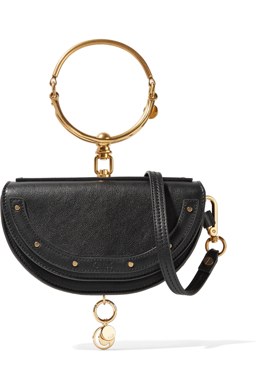 Chloé Nile Bracelet small textured-leather shoulder bag