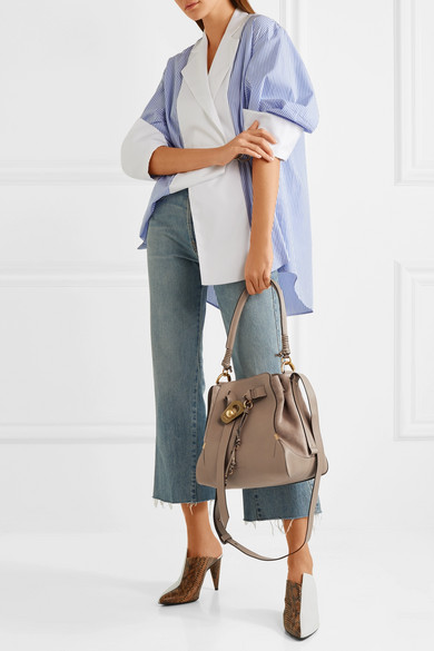 b8cc7a8059b9 Chloé   Owen medium textured-leather and suede shoulder bag   NET-A ...