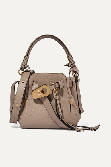 e933a47c412c Chloé   Owen small textured-leather and suede shoulder bag   NET-A ...
