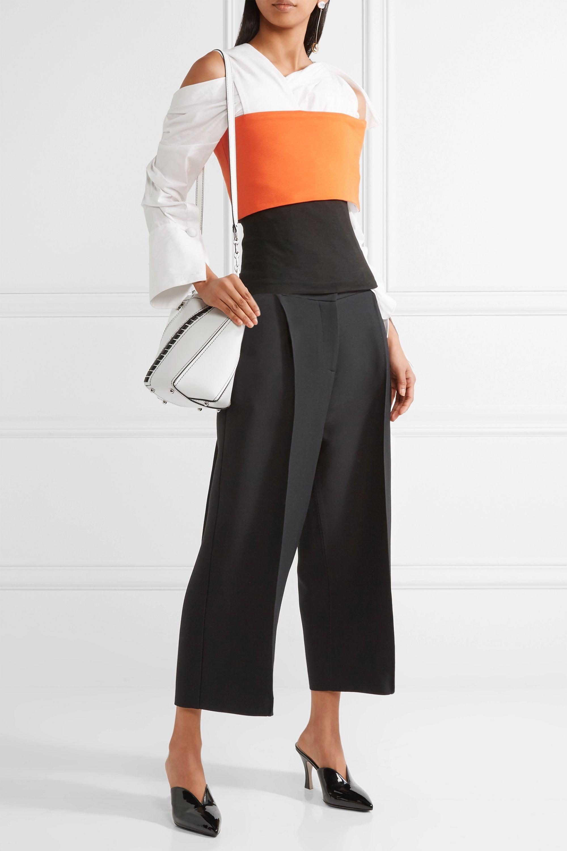 Proenza Schouler Hex mini paneled leather shoulder bag