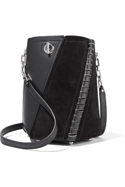 Proenza Schouler Hex mini paneled leather and suede shoulder bag