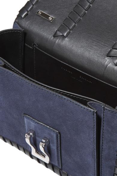 Proenza Schouler Hava Schultertasche aus Leder und Veloursleder mit Details im Überwendlichstich