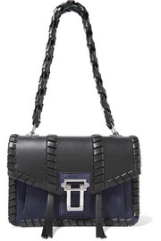 Proenza Schouler Hava whipstitched leather and suede shoulder bag