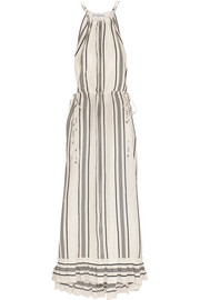 APIECE APART Himalaya striped linen and silk-blend maxi dress