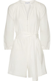 Las Islas cotton-gauze playsuit
