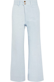 Merida cropped high-rise wide-leg jeans