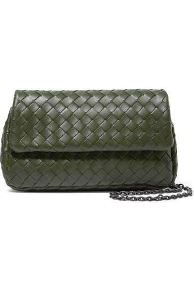 02aaee94e6 Bottega Veneta. Messenger mini intrecciato leather shoulder bag