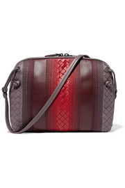 Bottega Veneta Nodini small embroidered intrecciato leather shoulder bag