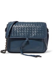 Bottega Veneta Saddle intrecciato leather shoulder bag