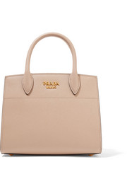 Prada Bibliothèque small textured-leather tote
