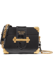 Prada Cahier Box patent-leather shoulder bag