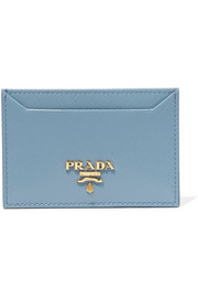 Patent textured-leather cardholder