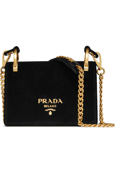 Prada Velvet Shoulder Bag EBQsQBpRO2